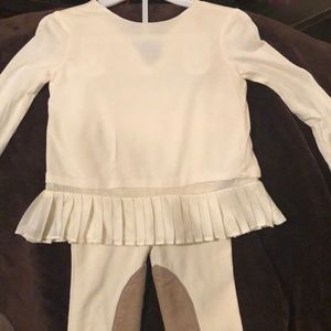 Only wore once. Baby girl riding pants with top